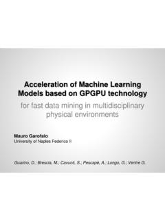 Acceleration of Machine Learning Models based …