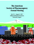 The American Society of Pharmacognosy Annual Meeting