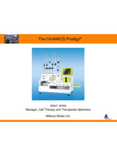 The CliniMACS Prodigy - amc