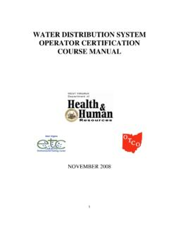 WATER DISTRIBUTION SYSTEM OPERATOR CERTIFICATION …