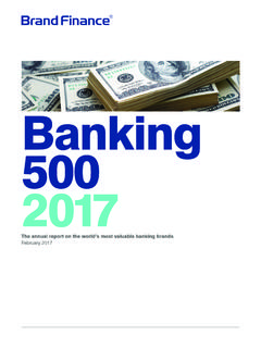 Banking 500 2017 - Intangible Asset Valuation