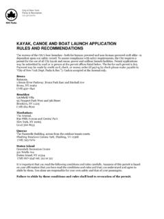 KAYAK, CANOE AND BOAT LAUNCH APPLICATION RULES …