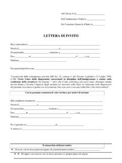 LETTERA DI INVITO - vistoturistico.it