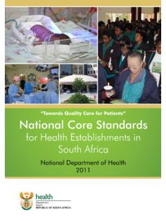 """Towards Quality Care for Patients"" National Core Standards"