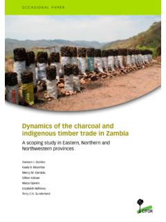 Dynamics of the charcoal and indigenous timber trade in …
