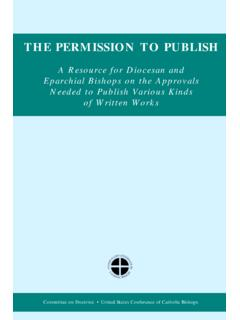 THE PERMISSION TO PUBLISH
