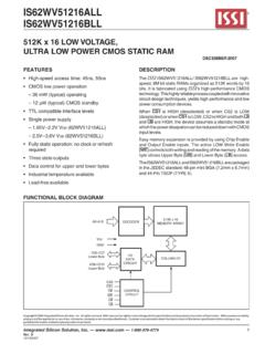 512K x 16 LOW VOLTAGE, ULTRA LOW POWER CMOS STATIC …