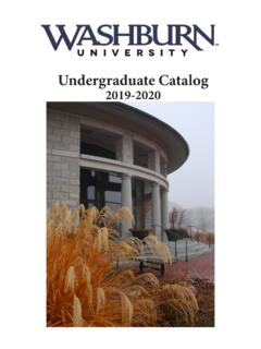 Undergraduate Catalog - washburn.edu