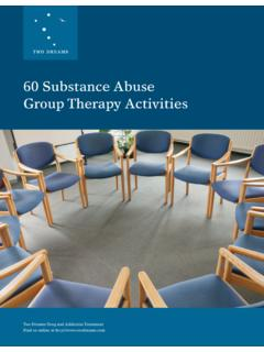 60 Substance Abuse Group Therapy Activities