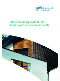 Health Building Note 03-01: Adult acute mental health units