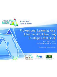 Professional Learning for a Lifetime: Adult Learning ...