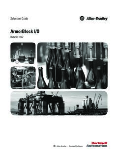 1732-SG001F-EN-E ArmorBlock I/O Modules Selection Guide