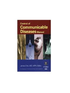 Control of Communicable Diseases Manual (17th …