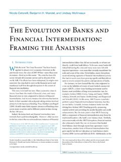 The Evolution of Banks and Financial Intermediation ...
