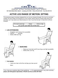ACTIVE LEG RANGE OF MOTION: SITTING - …