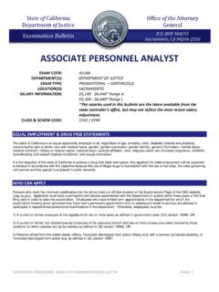 ASSOCIATE PERSONNEL ANALYST - State of …