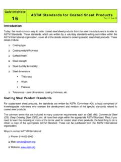ASTM Standards for Coated Sheet Products - Steel …