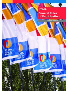 General Rules of Participation - IFEMA