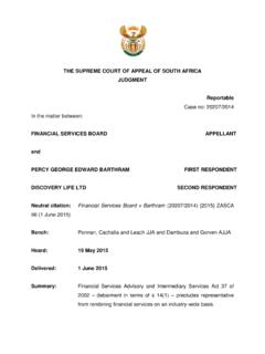 THE SUPREME COURT OF APPEAL OF SOUTH AFRICA …