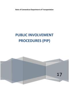 PUBLIC INVOLVEMENT PROCEDURES (PIP) - Connecticut