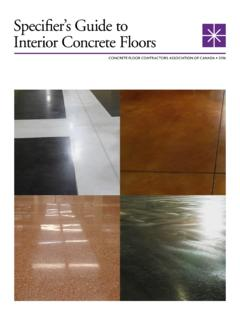 Specifier's Guide to Interior Concrete Floors