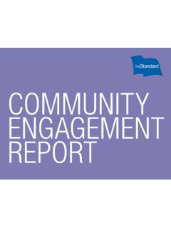 Community Engagement Report - The Standard