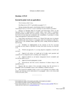 Decision -/CP.23 Koronivia joint work on agriculture