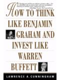 HOW TO THINK LIKE WARREN BUFFETT - womlib.ru