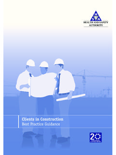 Clients in Construction - Best Practice Guidance