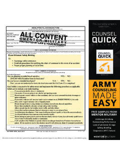 This counseling sample is taken from… Counsel Quick