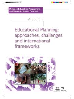 Educational Planning: approaches, challenges and ...
