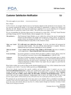 Customer Satisfaction Notification T23 - Chrysler