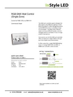 RGB DMX Wall Control (Single-Zone) - InStyle LED - UK ...