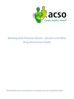 Working with Forensic Clients Alcohol and Other Drug ...