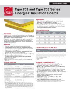 Type 703 and Type 705 Series Fiberglas Insulation Boards
