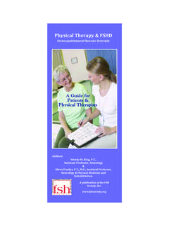 A Guide for Patients & Physical Therapists - FSH Society