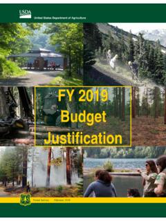 FY 2019 Budget Justification - fs.fed.us