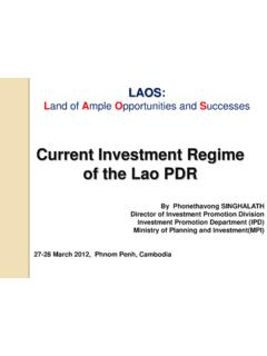 FDI Policy of Lao PDR - OECD.org