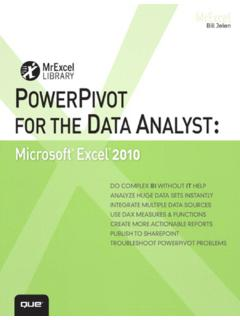PowerPivot for the Data Analyst: Microsoft® Excel …