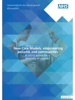 New Care Models: empowering patients and communities