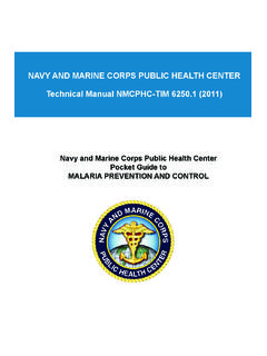 NAVY AND MARINE CORPS PUBLIC HEALTH …