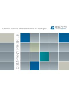 COMPANY PROFILE - Group Five Limited