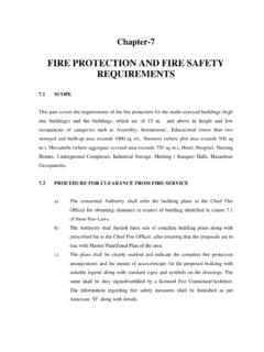 FIRE PROTECTION AND FIRE SAFETY REQUIREMENTS