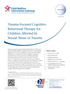 Trauma-Focused Cognitive Behavioral Therapy for …