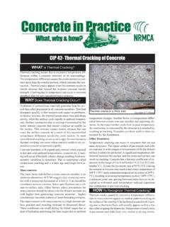 CIP 42- Thermal Cracking of Concrete