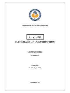 MATERIALS OF CONSTRUCTION - civil.emu.edu.tr