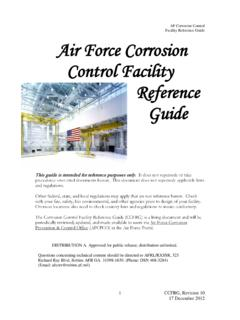 Air Force Corrosion Control Facility Reference Guide