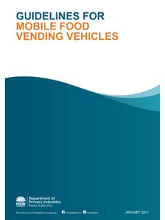 GUIDELINES FOR MOBILE FOOD VENDING VEHICLES