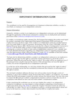 Employment Determination Guide (DE 38)