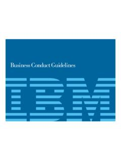IBM Business Conduct Guidelines